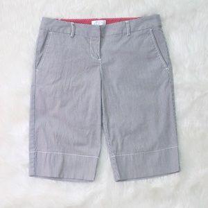 Striped Bermuda Shorts Work Week Business Casual